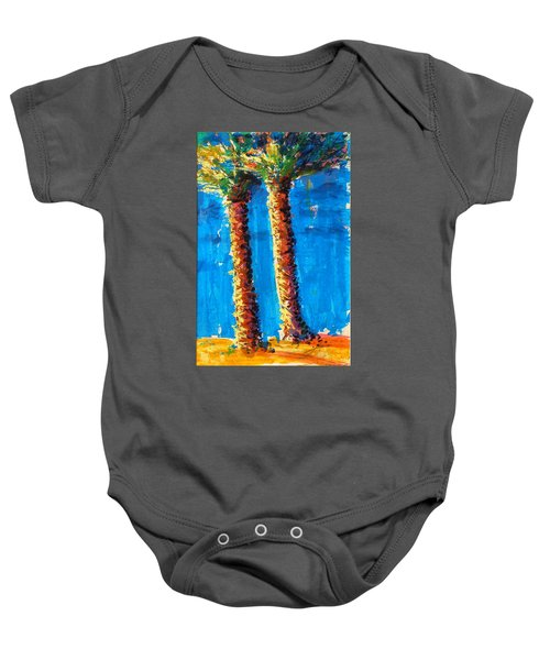 Lincoln Rd Date Palms Baby Onesie