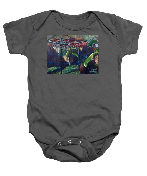 Lines And Light Baby Onesie