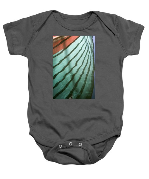 Lines On The Water Baby Onesie