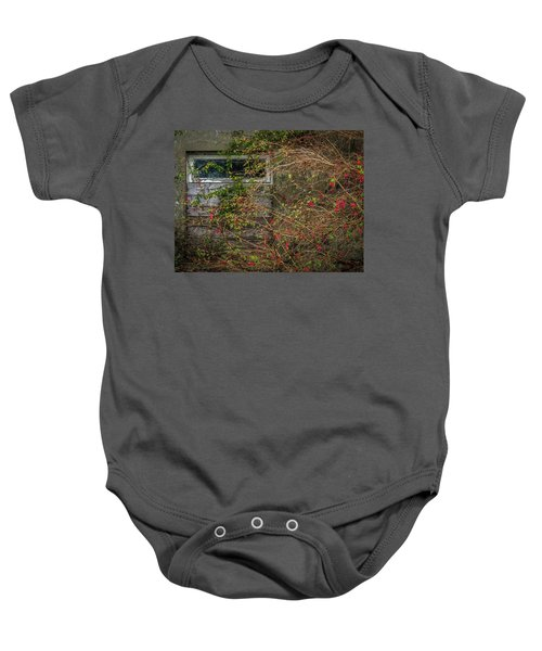 Baby Onesie featuring the photograph Lingering Blooms In Autumn by James Truett