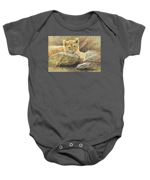 Lion Cub Study Baby Onesie