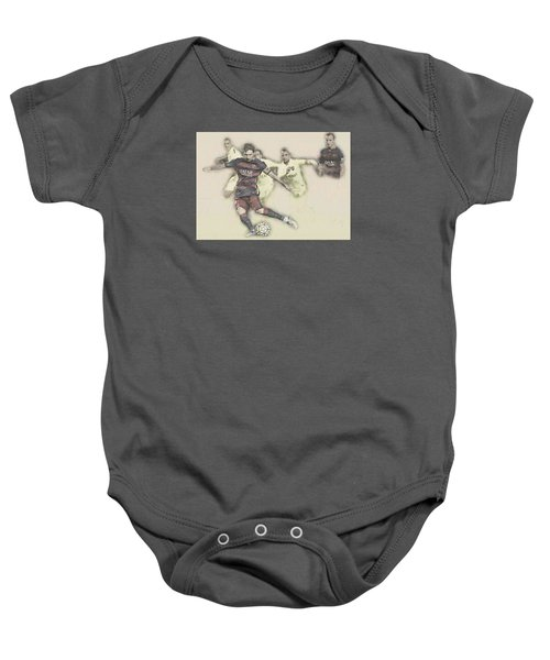 Lionel Messi Scores A Penalty Kick Against Levante  Baby Onesie by Don Kuing