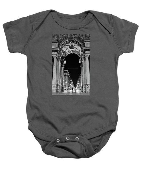 Lisbon - Portugal - Triumphal Arch - Rua Augusta Baby Onesie