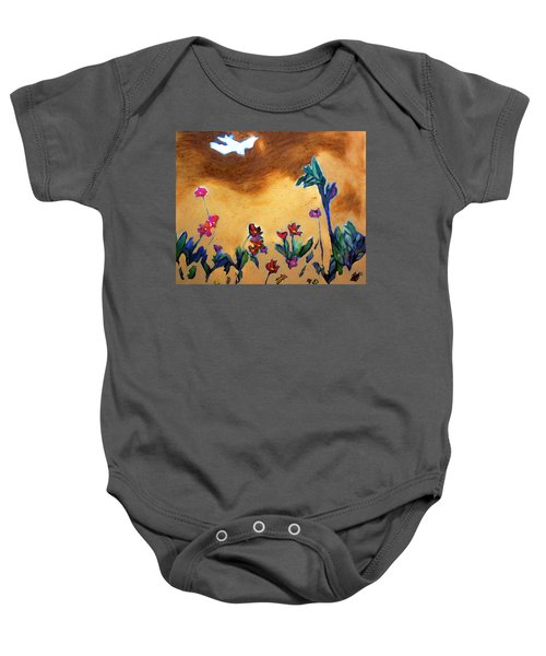 Baby Onesie featuring the painting Living Earth by Winsome Gunning