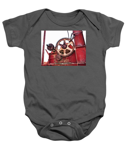 Baby Onesie featuring the photograph Locked In History by Stephen Mitchell