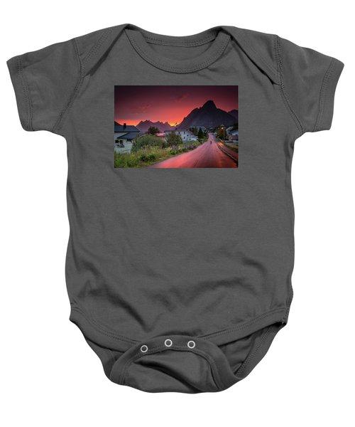 Lofoten Nightlife  Baby Onesie