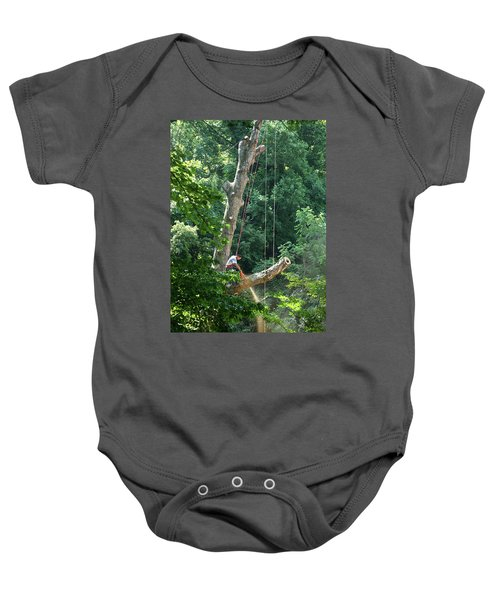 Logger Cutting Down Large, Tall Tree Baby Onesie