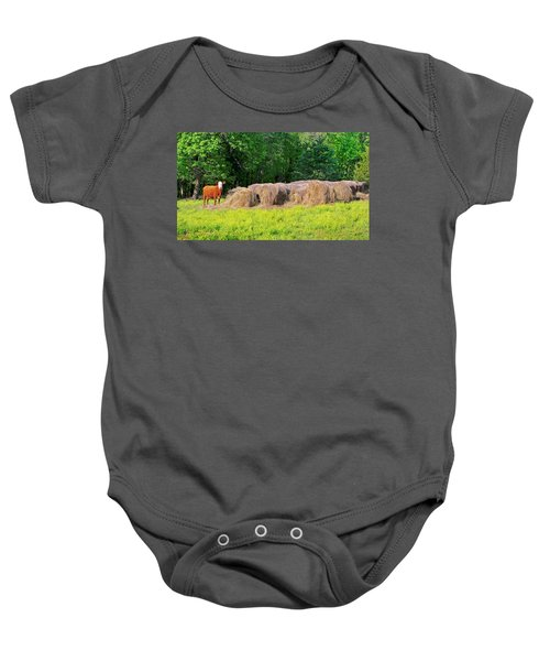 Lone Cow Guard, Smith Mountain Lake Baby Onesie