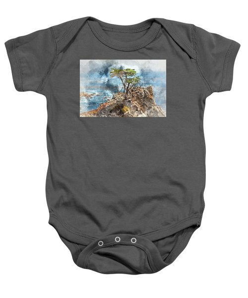Lone Cypress In Monterey California Baby Onesie
