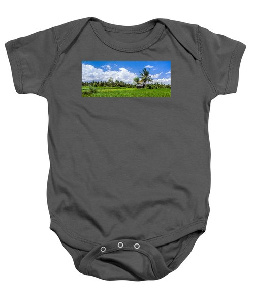 Lonely Rice Hut Baby Onesie