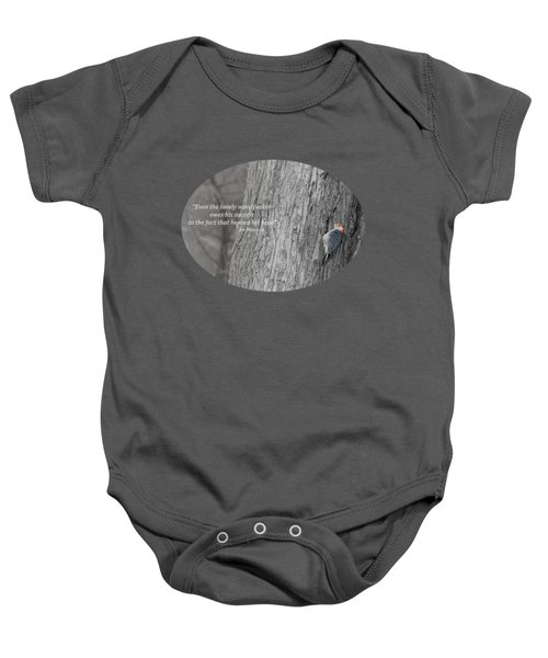 Lonely Woodpecker Baby Onesie by Jan M Holden