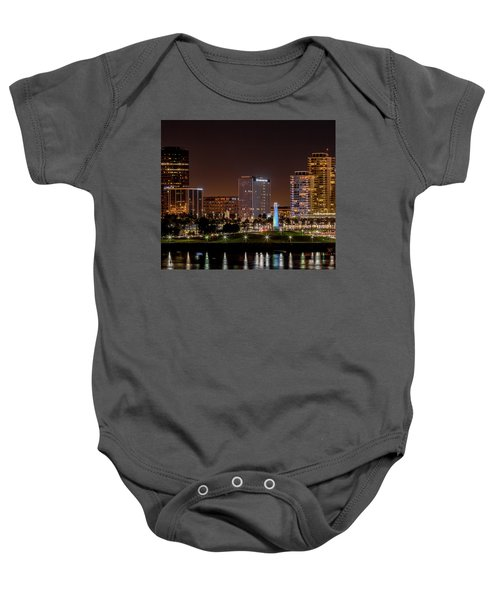 Long Beach A Chip In Time Color Baby Onesie
