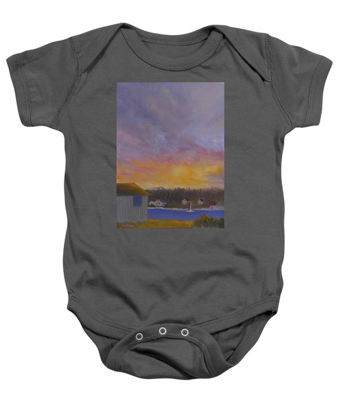 Long Cove Sunrise Baby Onesie