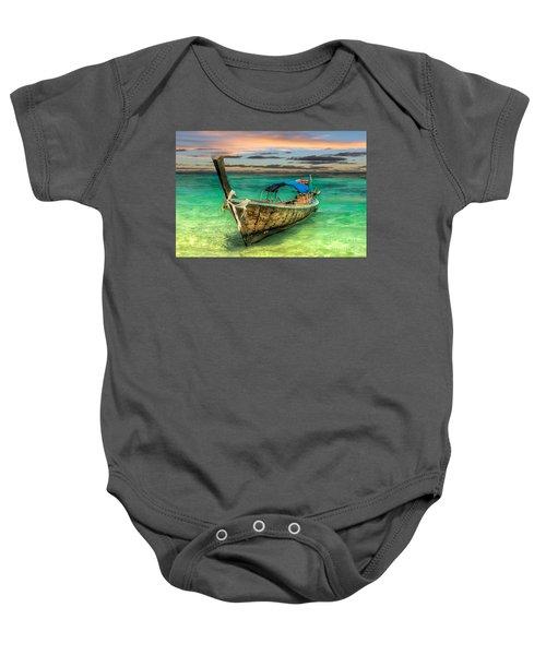 Longboat Sunset Baby Onesie