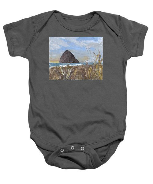 Longing For The Sounds Of Haystack Rock Baby Onesie