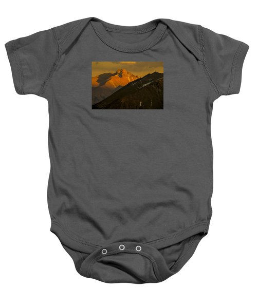 Baby Onesie featuring the photograph Long's Peak by Gary Lengyel