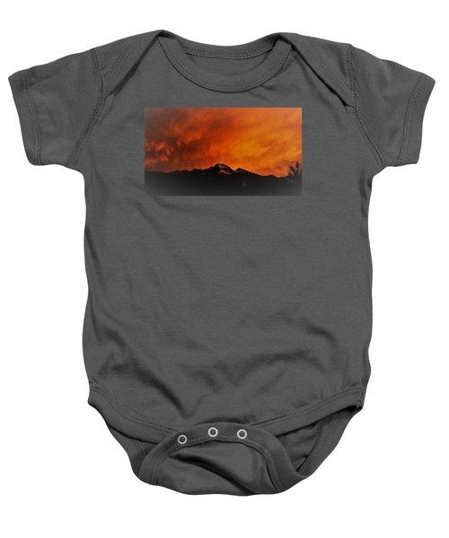 Longs Peak Sunset Baby Onesie
