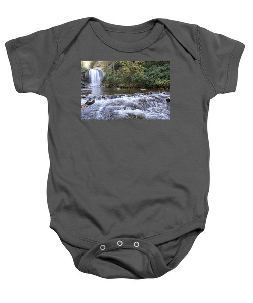 Looking Glass Falls Downstream Baby Onesie