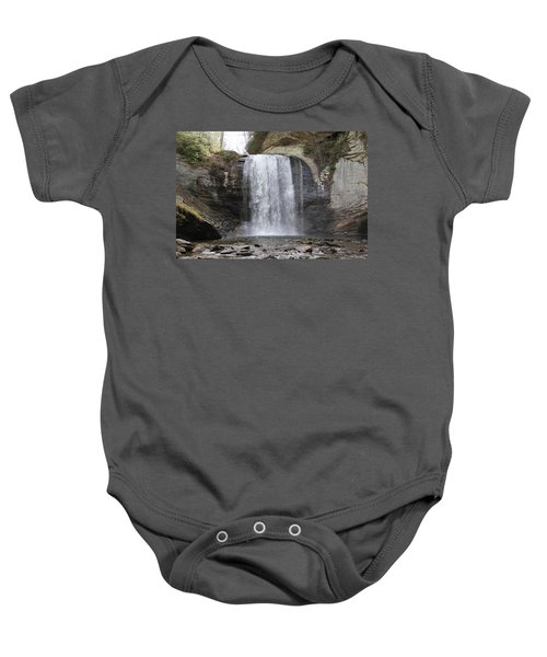 Looking Glass Falls Front View Baby Onesie