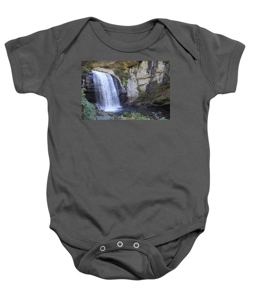 Looking Glass Falls Side View Baby Onesie