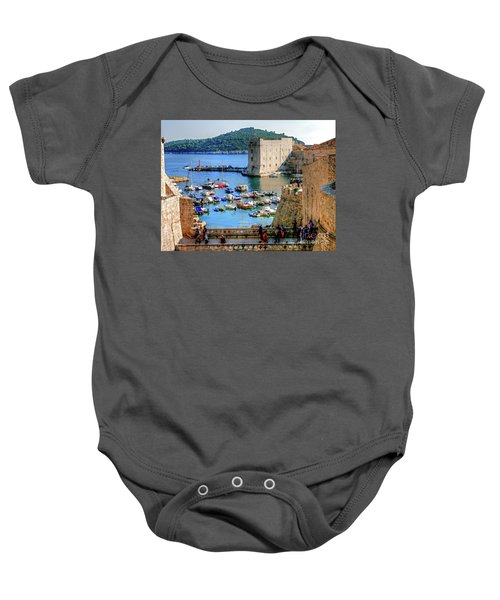 Looking Out Onto Dubrovnik Harbour Baby Onesie