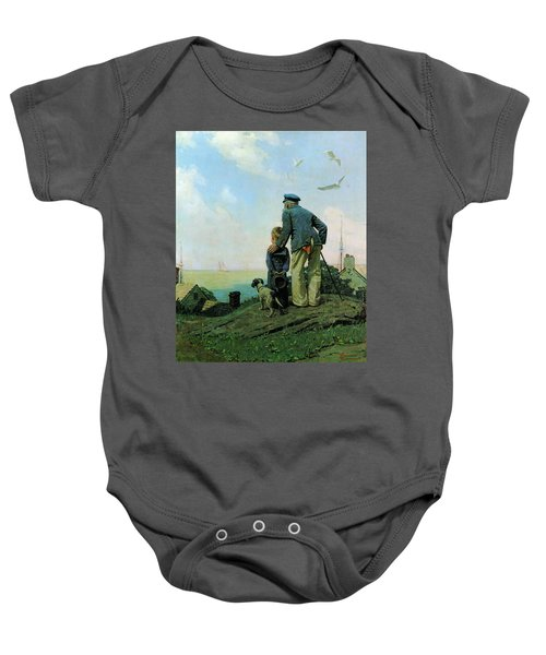 Looking Out To Sea Baby Onesie