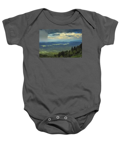 Looking Over The Valley Baby Onesie