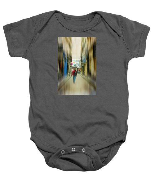 Lost In The Maze Of The City Baby Onesie