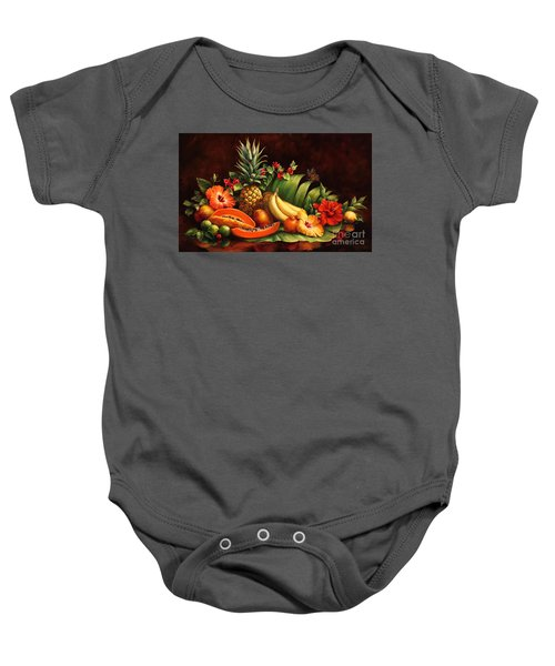 Lots Of Fruit Baby Onesie
