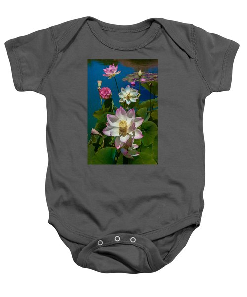 Lotus Pool Baby Onesie