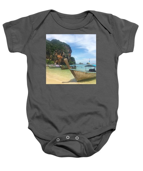 Lounging Longboats Baby Onesie