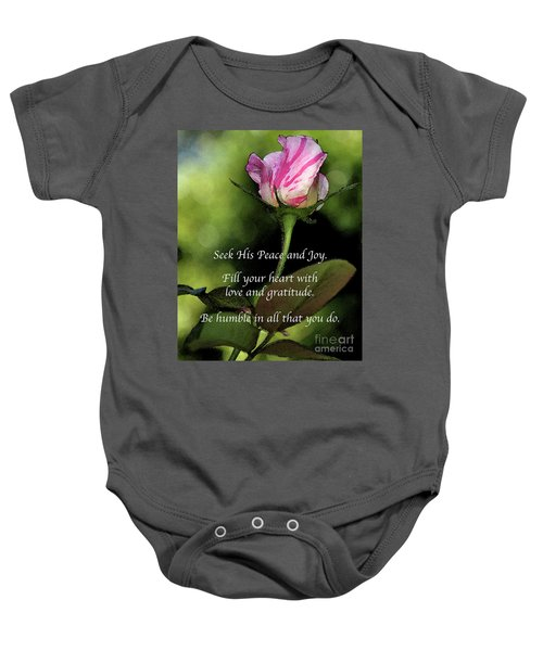 Love And Gratitude Baby Onesie