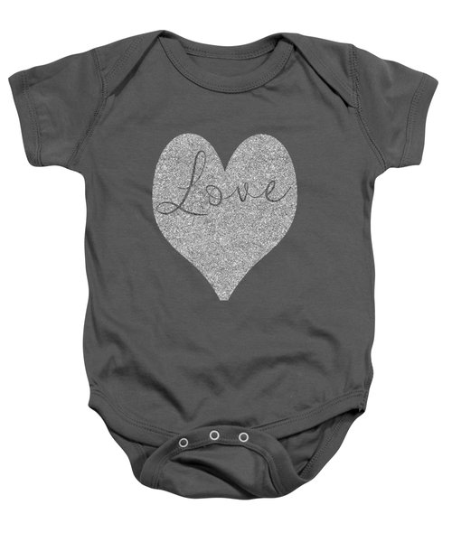 Love Heart Glitter Baby Onesie