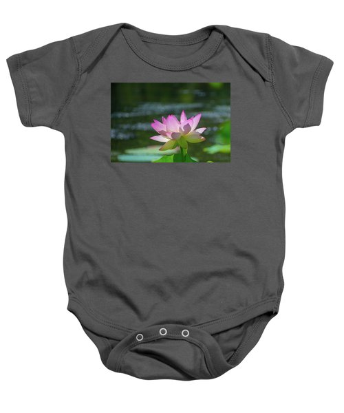 Lovely Lotus In Pink Baby Onesie