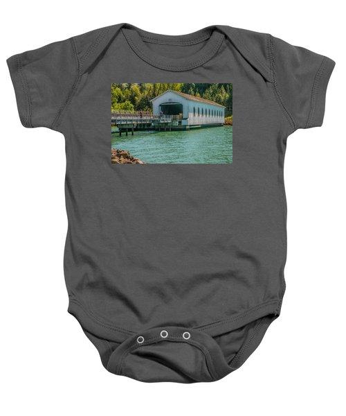 Lowell Covered Bridge Baby Onesie