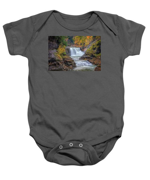 Lower Falls In Autumn Baby Onesie
