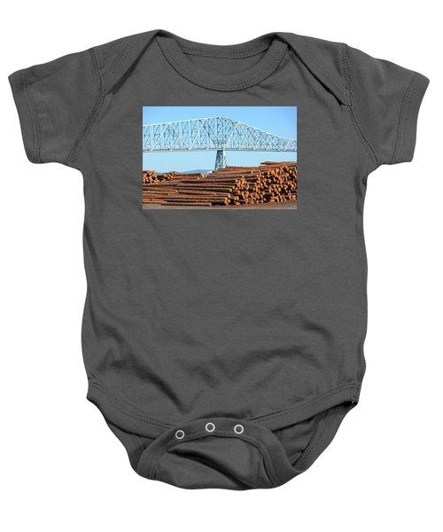 Lumber Mill In Rainier Oregon Baby Onesie