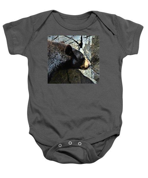 Lumbering Bear Baby Onesie