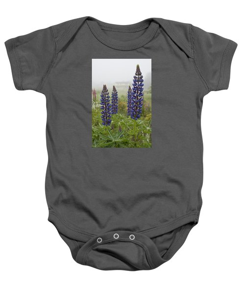 Lupine In The Fog Baby Onesie