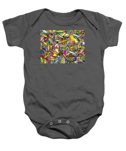 Lure Collage Baby Onesie