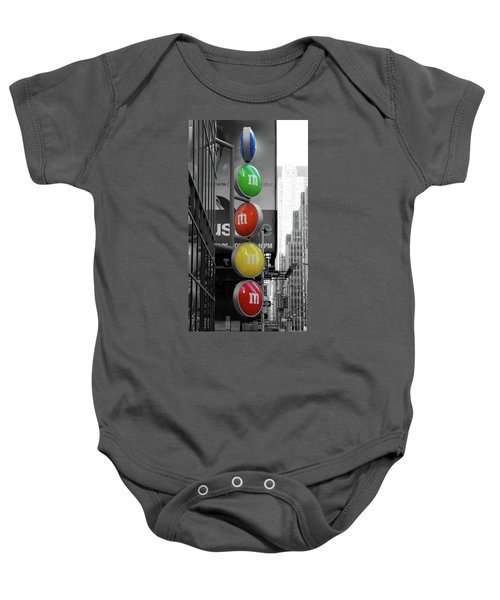 M And Ms In New York City Baby Onesie
