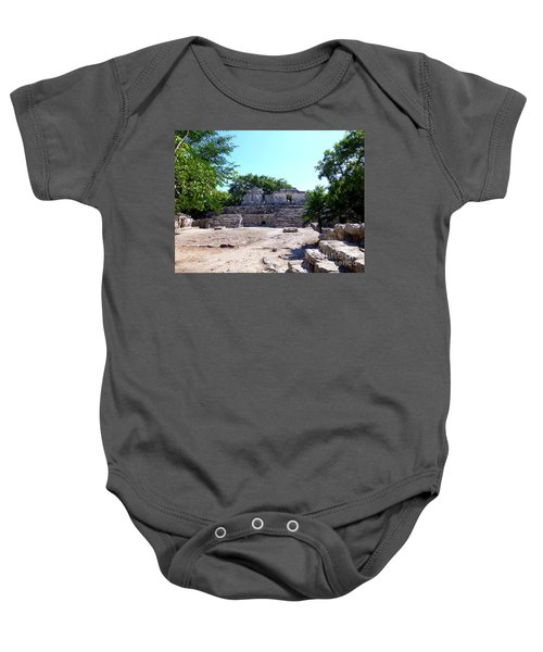 Baby Onesie featuring the photograph M Ruin by Francesca Mackenney