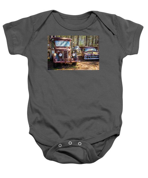 Mack Truck And Plymouth Baby Onesie