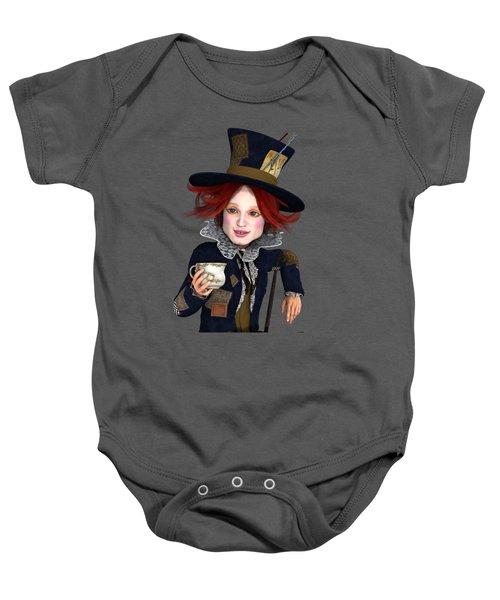 Mad Hatter Portrait Baby Onesie