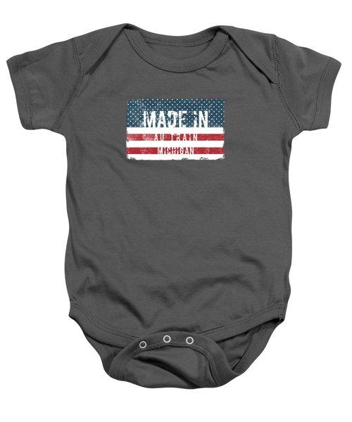 Made In Au Train, Michigan Baby Onesie