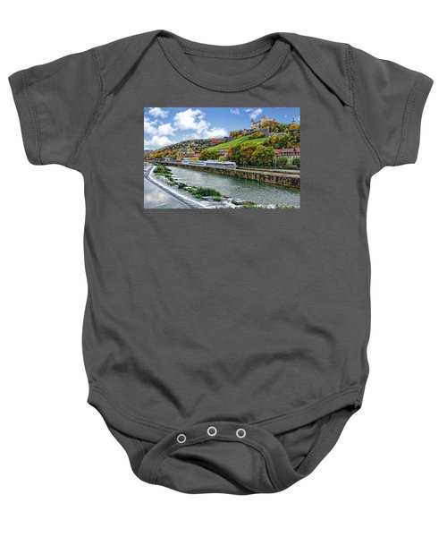 Main River Panorama Baby Onesie