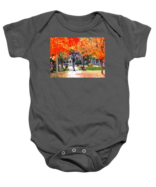 Main Street In The Fall Baby Onesie