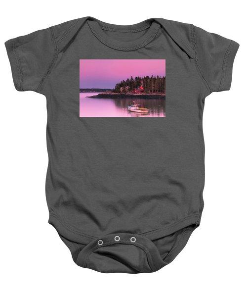 Maine Five Islands Coastal Sunset Baby Onesie