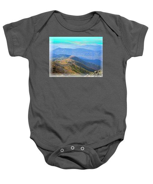 Majestic White Mountains Baby Onesie