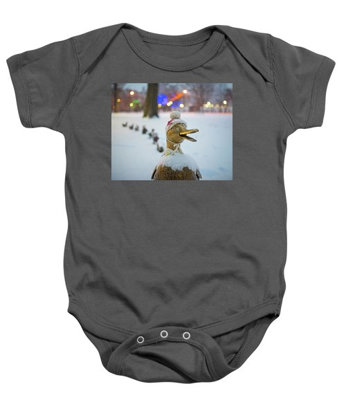 Make Way For Ducklings Winter Hats Boston Public Garden Christmas Baby Onesie